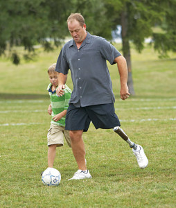 A person playing football with C-leg (Courtesy: www.ottobock.com)