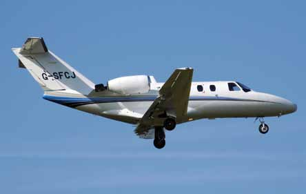 Business jet—Cessna 525 CitationJet (G-SFCJ) (Courtesy: Wikipedia)