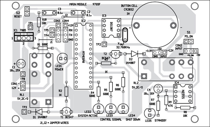 Fig. 8: Component layout of the main module