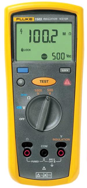 Fig. 2: Insulationresistance meter