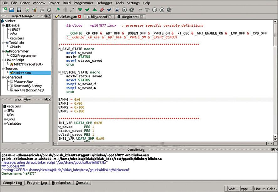 Fig. 5: Source code editor