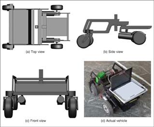 Fig.2 The UGV fabricated using split-frame technology