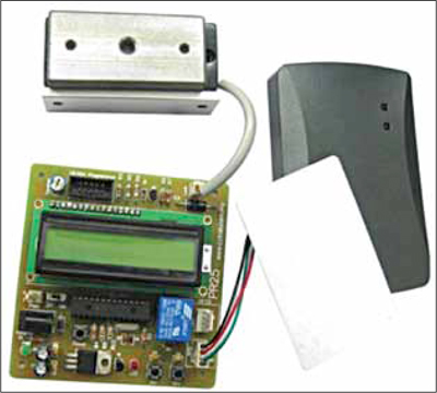 Fig. 5: Prototype of a microcontroller-based RFID building access control system (Courtesy: www.cytron.com.my)