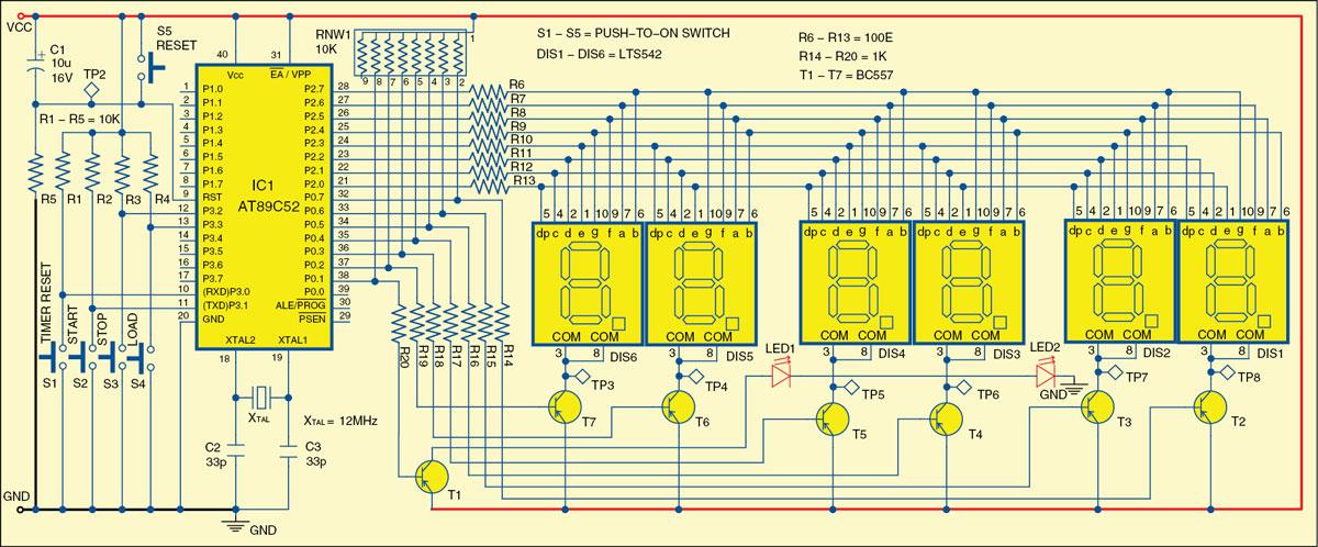 Fig. 1: Circuit of stop clock