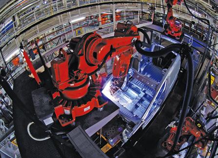 Laser welding by a robot