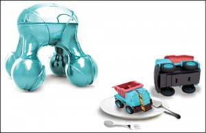 Atomium prints food in designs thatappeal to kids (Courtesy: Luiza Silva andElectrolux Design Labs)