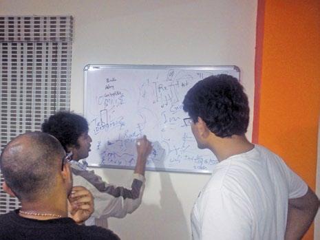 White board discussion