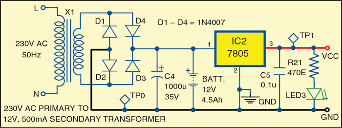 Fig. 2: Power supply section