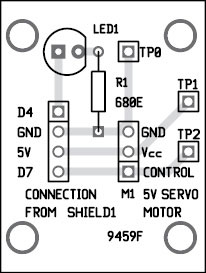 Fig. 6: Component layout for the PCB