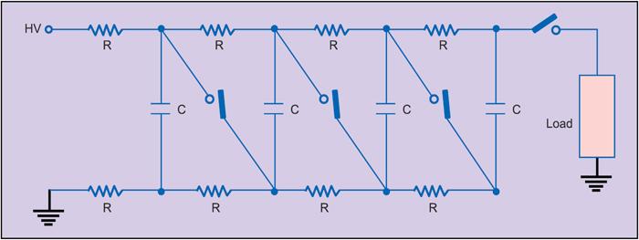 Fig. 13: Marx bank power supply arrangement