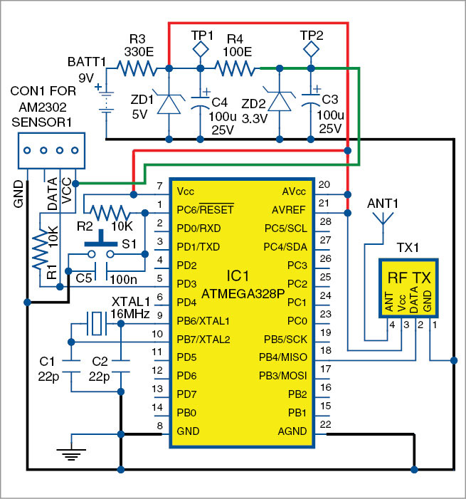 Fig. 2: Circuit diagram of the transmitter unit