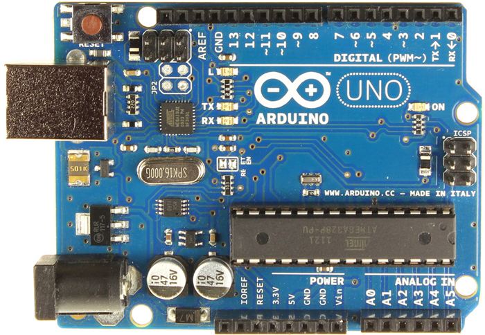 Fig. 1: Arduino UNO board
