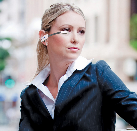 Vuzix Smart Glasses M100 with ear-mounting option (Courtesy: www.vuzix.com)