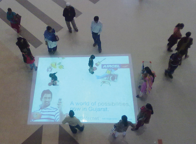 Interactive floor projection campaign for Aircel launch in Gujarat