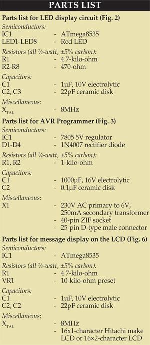 Fig. 3: Circuit diagram of AVR programmer (Pod)