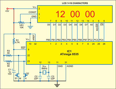 Fig. 11: Circuit diagarm of real-time clock