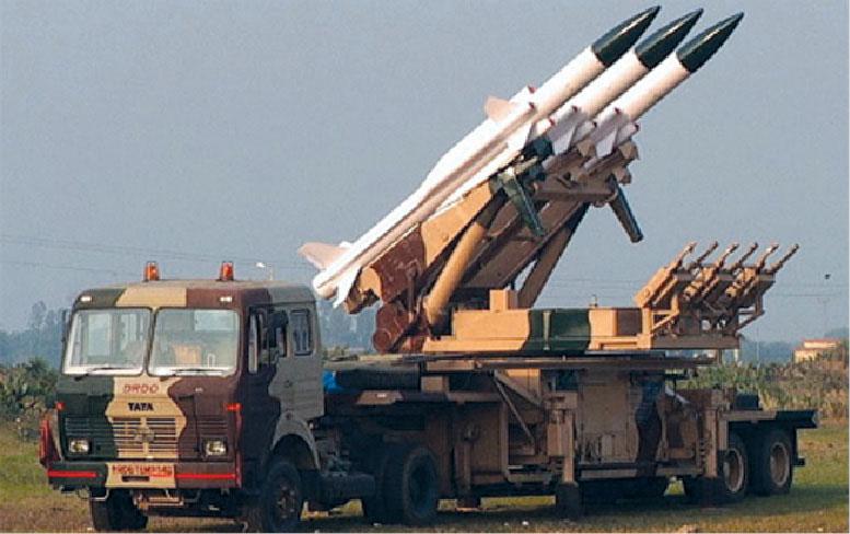 Fig. 9: Akash medium-range surface-to-air missile