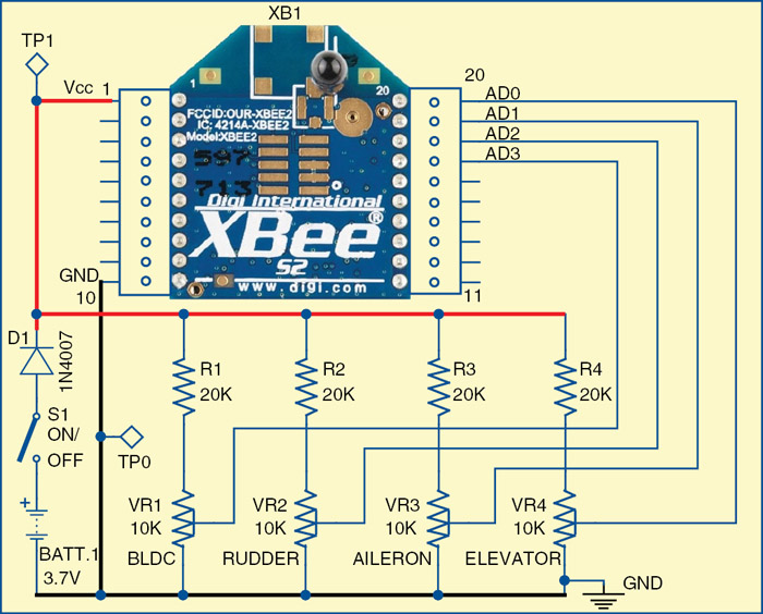 xbee controlled aircraft electronics for you rh electronicsforu com