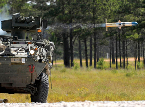 Fig. 6: American BGM-71 tube-launched optically-tracked wire commanded data link guided missile with the wire trailing behind the missile (Photograph credit: US Army, through Wikipedia)