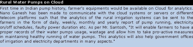 Rural water pumps on cloud