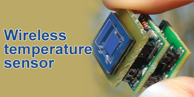 Fully autonomous wireless temperature sensor powered by a vibrational energy harvester