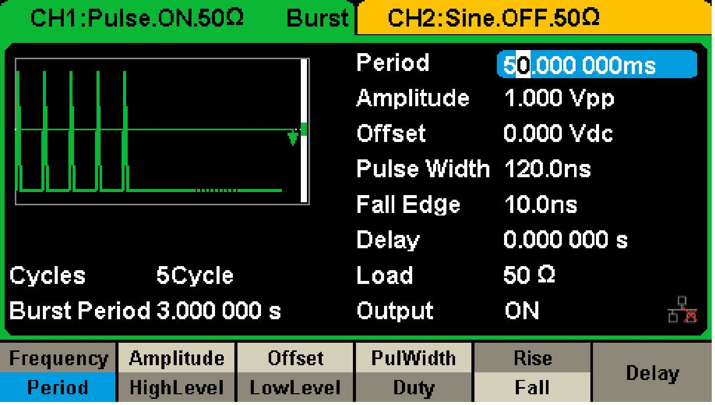 Figure 2: SDG2102X Settings Panel