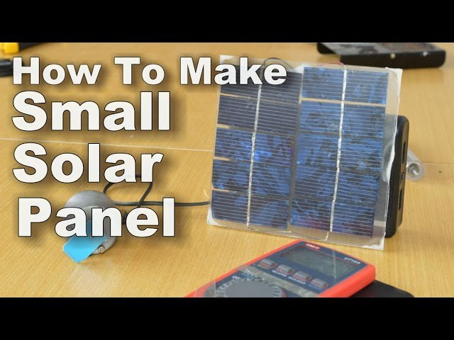 Diy video how to make small solar panel for How to make a solar panel for kids