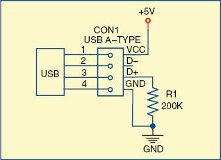 Fig. 5: Pull-down resistor configuration at D+ pin