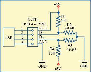 Fig. 4: Pull-up resistor configuration at D+ and D- pins