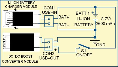 Power bank for smartphones circuit with full explanation 1 circuit diagram of the power bank ccuart Gallery