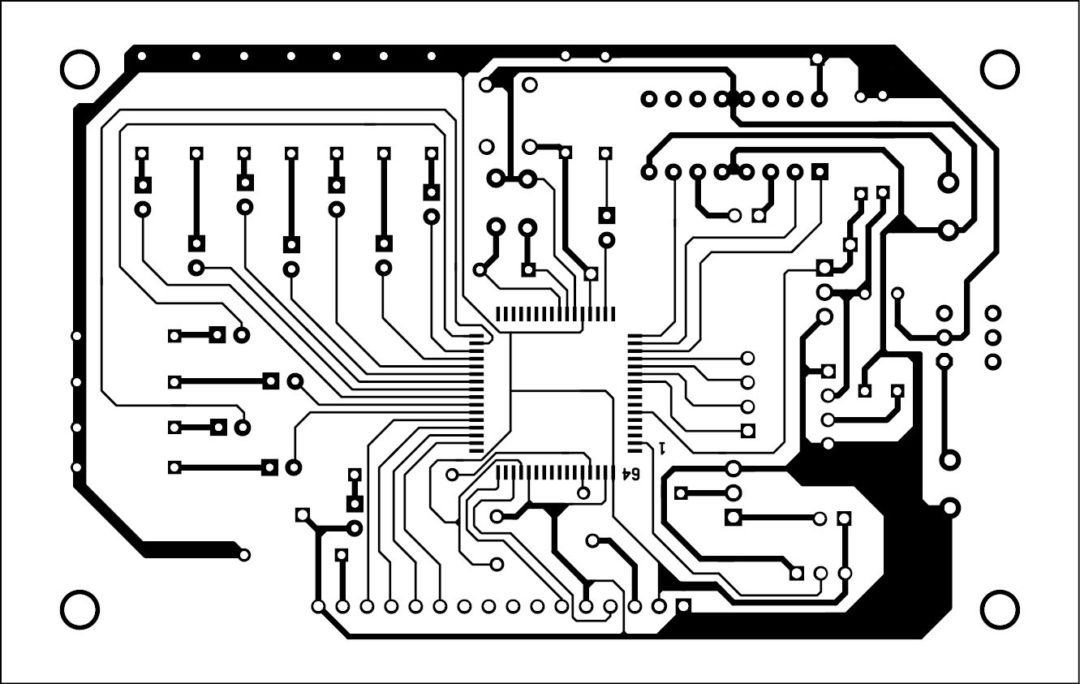 Fig. 5: An actual-size PCB of the circuit