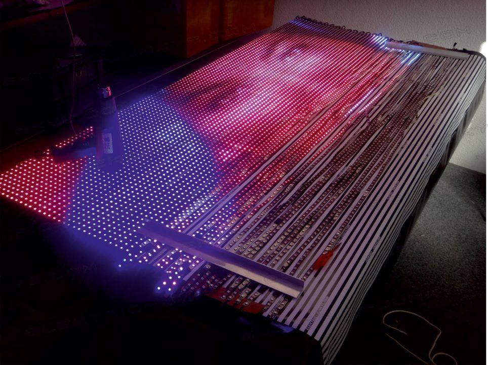 Как собрать led экран из ленты своими руками