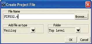 Fig. 4: Create Project File window