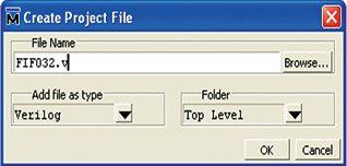 Fig. 4: Create Project File window