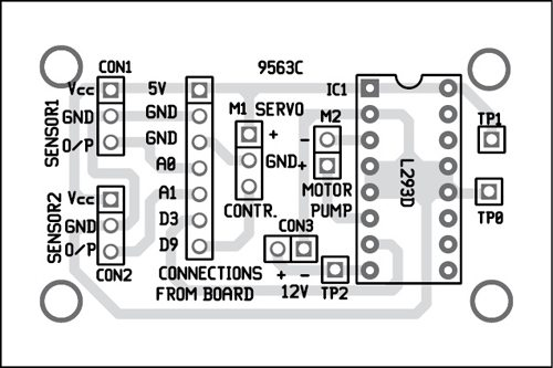 Fig. 6: Component layout of the PCB