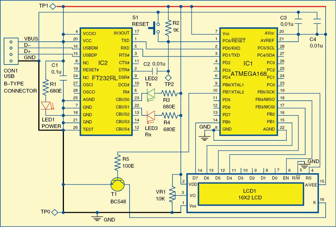 Fig. 2: Circuit diagram of postfix calculator