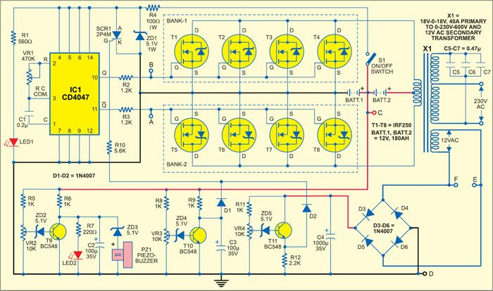 sine wave inverter circuit diagram with full explanation rh electronicsforu com