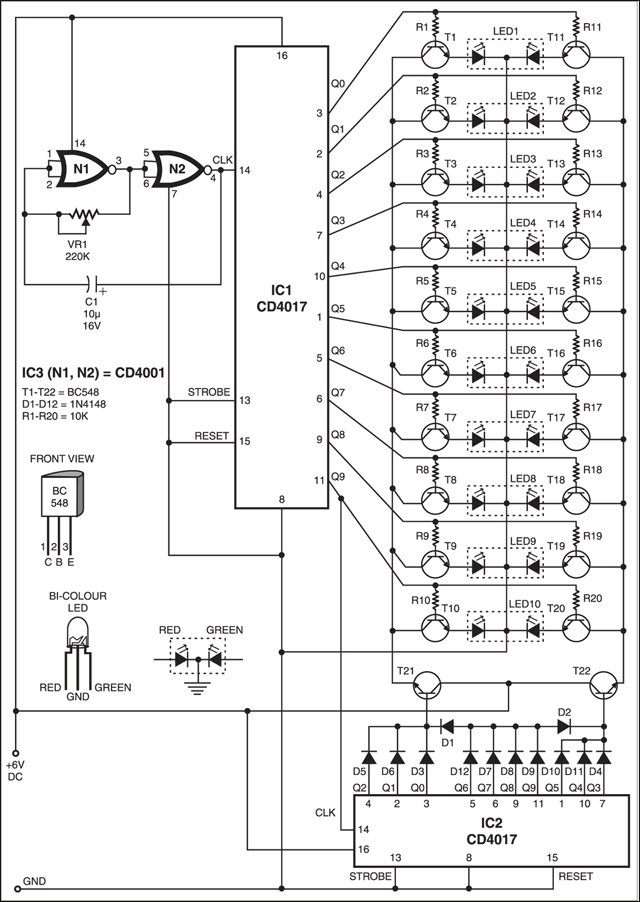 Three colour display circuit