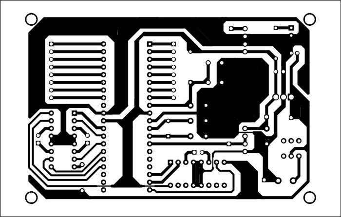 Fig. 6: Actual-size PCB of the main module (robot)