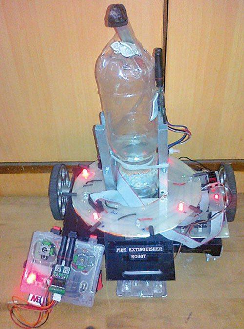 Fig. 1: Fire extinguishing robot (author's prototype)
