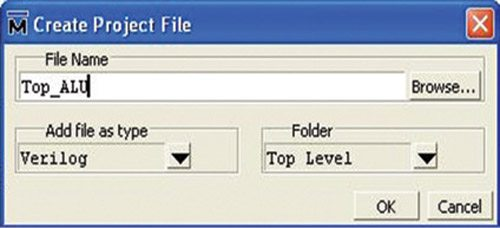 Fig. 5: Create Project File window