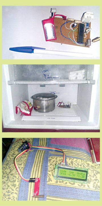Autorov prototip indikatora temperature i vlažnosti hladnjaka