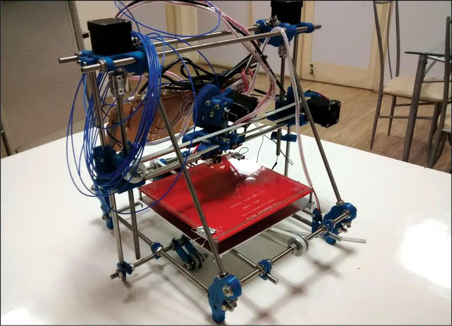 Fig. 1: LM8UU Prusa Mendel 3D printer