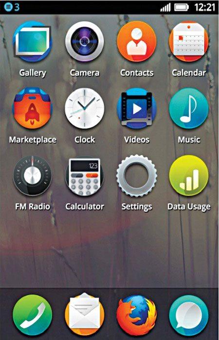 Fig. 10: Firefox OS Home screen