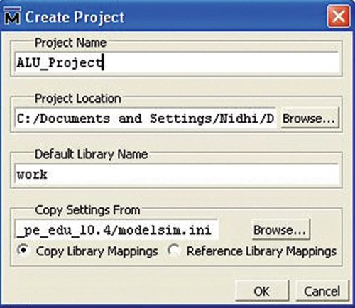 Fig. 3: Create Project window
