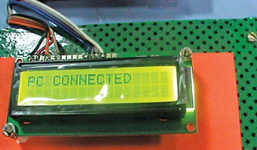 Fig. 10: PC connected