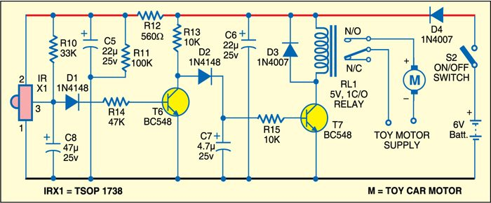 remote control for toy car electronics for you fig 2 receiver circuit