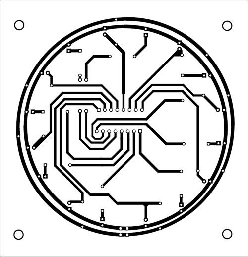 Fig. 10: Actual-size PCB of the sensor module