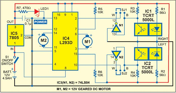 Line Follower Robot Without Microcontroller