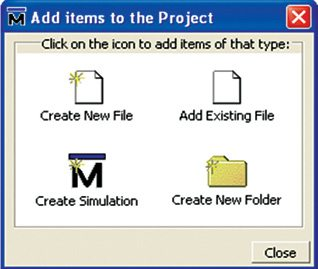 Fig. 2: Create Project window